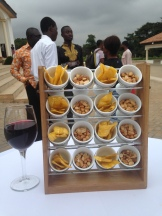 Refreshments served at a food security conference, Accra 2015
