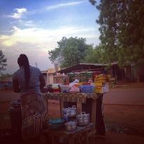 Indomie (instant ramen) stand, Upper East Region 2016